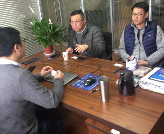 锦科集团王总一行走访宁波塑机协会